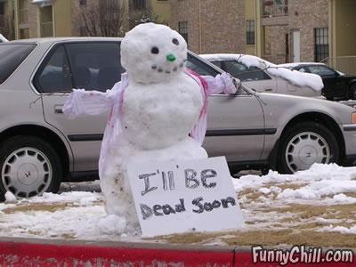 I'll be dead soon Snowman