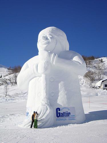 Galtur Austria Snowman