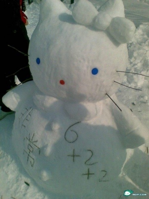 hello-kitty-snowman
