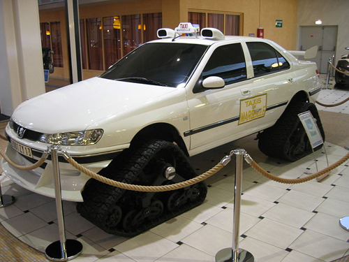Tracked Peugeot 406 Taxi