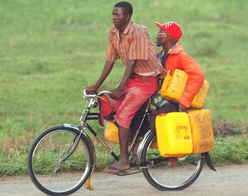 Bicycle Taxi Burundi Africa