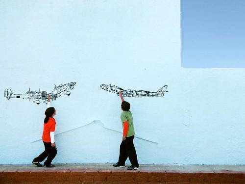 Robin Rhode Paper Planes