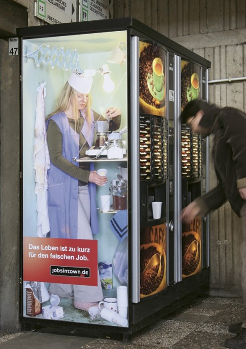 kaffeeautomat 500x707 Lifes too short for the wrong job   Cool and Creative Ads