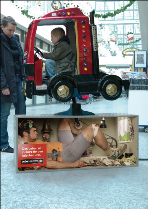kiddieride 500x706 Lifes too short for the wrong job   Cool and Creative Ads