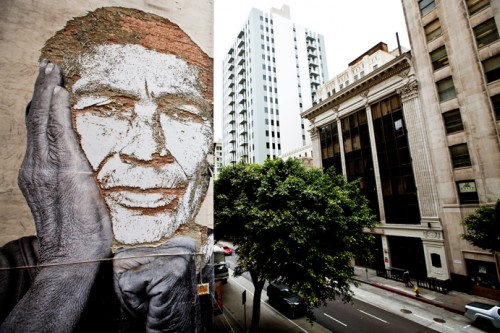 IMG 1544 JR Vhils 691 500x333 Amazing Street Art by French Artist JR