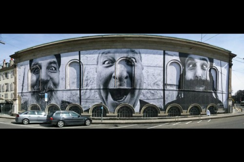 JR MUSEE RATH 500x333 Amazing Street Art by French Artist JR
