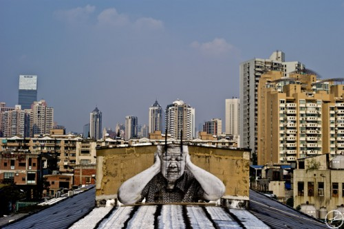 JRwebsite ShanghaiL1000370 500x333 Amazing Street Art by French Artist JR