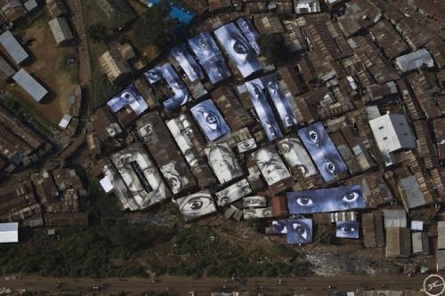 Kibera Finalview 2010 fondationproject 500x333 Amazing Street Art by French Artist JR