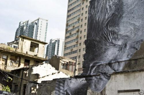 Shanghai JRL1001252 500x332 Amazing Street Art by French Artist JR