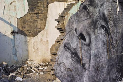Shanghai wrinkles JRL1001018 2 500x333 Amazing Street Art by French Artist JR