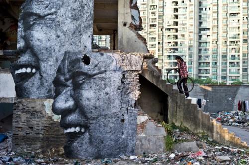 The wrinkles JR shanghaiL1000671 1 500x332 Amazing Street Art by French Artist JR