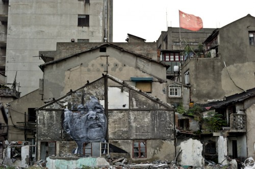 WRINKLES JR SHANGHAI L1000481 500x332 Amazing Street Art by French Artist JR