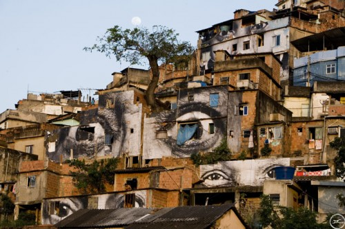 providencia JR eyes 500x333 Amazing Street Art by French Artist JR
