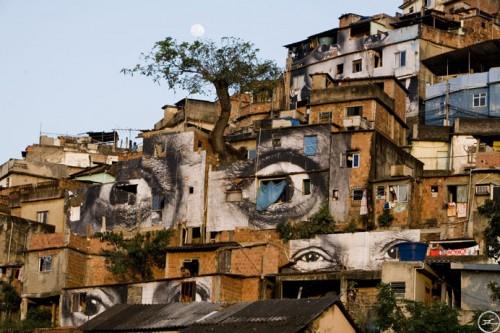 providencia JR eyes 500x333 Amazing Street Art by French Artist JR