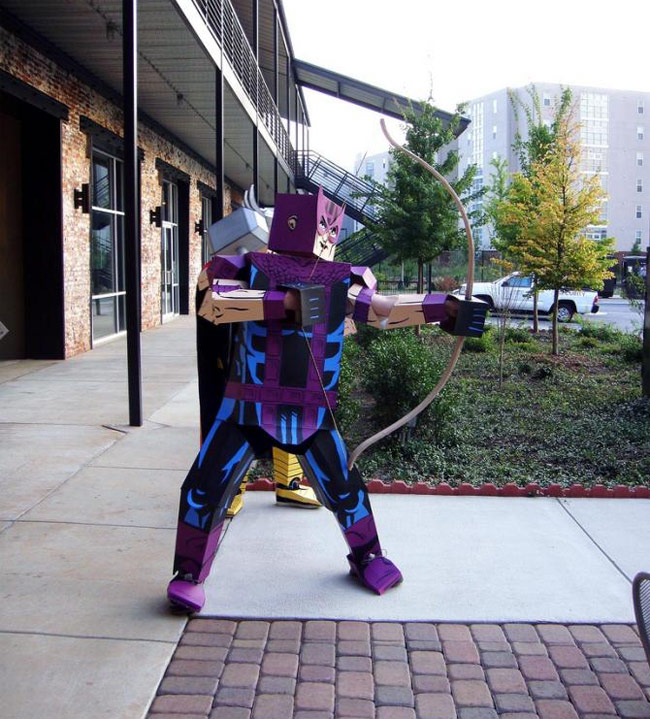 Crazy Comic Book Characters Represented in Boxed Costumes