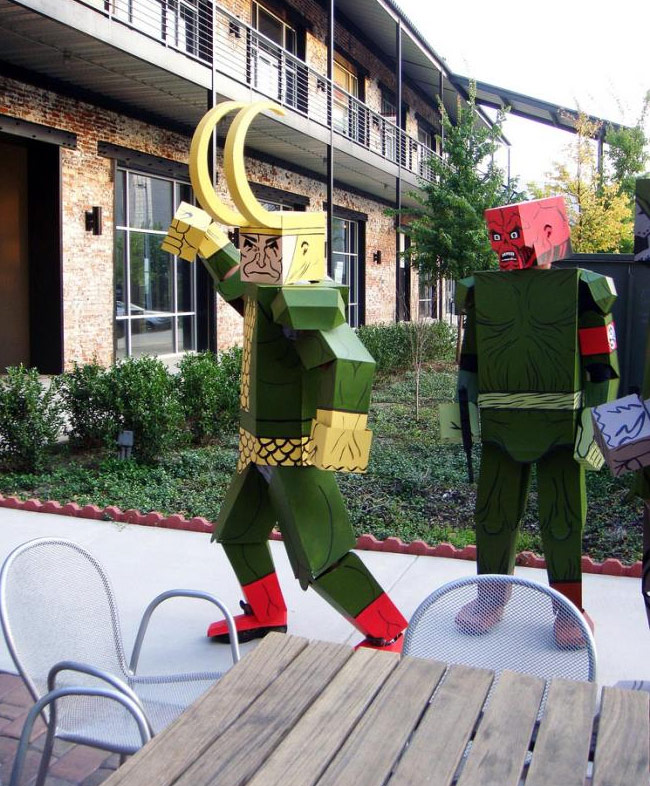 cardboard coustimes 9 Crazy Comic Book Characters Represented in Boxed Costumes