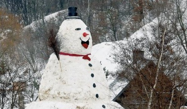 Milocinek - Largest Snowman in Poland