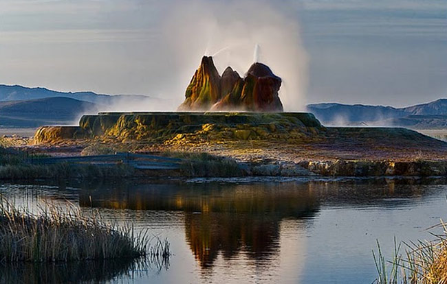Strangely Colored Fly Geyser