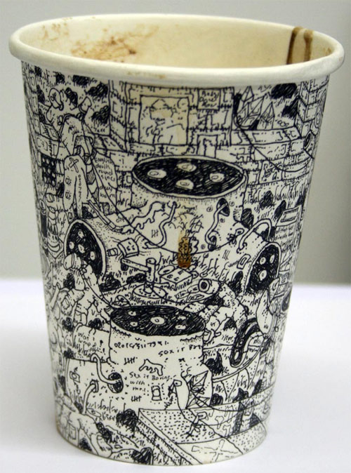 Expressing Art On Coffeecups