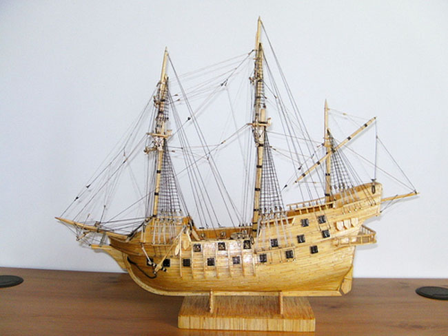 Matchstick Ships Model by David Reynolds