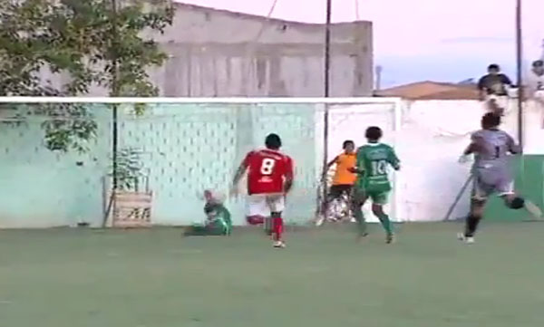Brazilian ballboy saves certain goal
