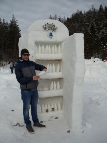 Funny snow sculptures