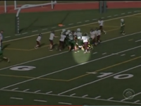 Middle school football players execute life-changing play