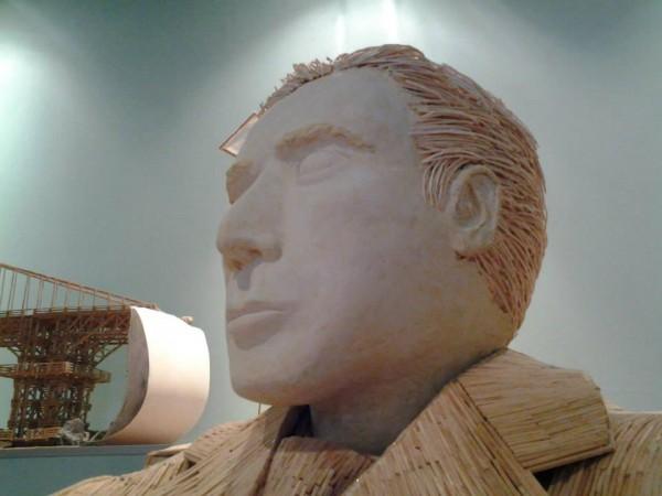 Al Pacino Matchstick sculpture
