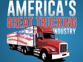 American Great Trucking Industry Infographic