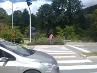 Crosswalk in Jajce, Bosnia and Herzegovina