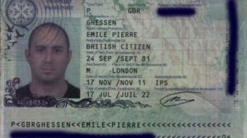 Emile Pierre Ghessen Passport