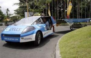 Solar powered Taxi