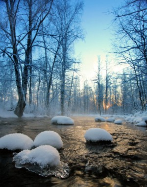 Ice-cold river