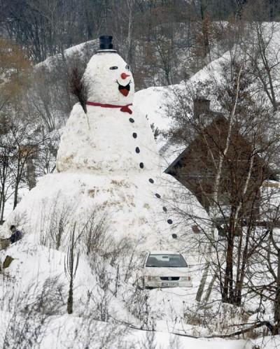 Poland Snowman