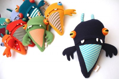 Valentines Day With Cotton Monsters