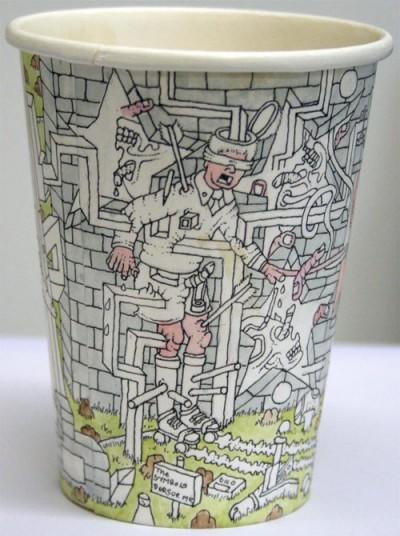 Expressing Art On Coffeecups