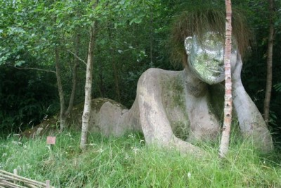 Enormous And Scary Statues In Lost Gardens Of Heligan