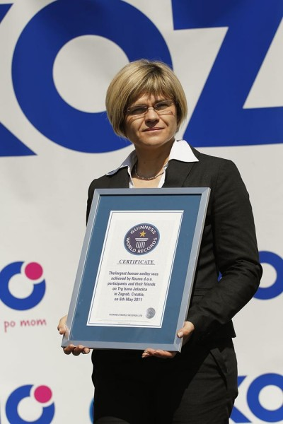 A New Guinness World Record For The Largest Human Smiley Face