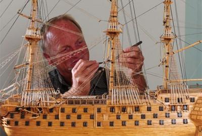 Matchstick Ships Model by David Reynolds