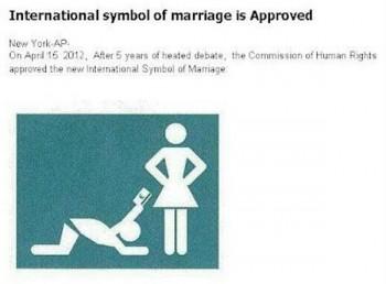 International symbol of marriage