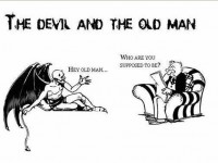The Devil and the old man