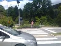 Crosswalk in Jajce, Bosnia and Herzegovina